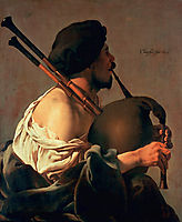 Bagpipe Player, 1624, terbrugghen