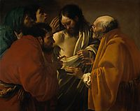 The incredulity of St. Thomas, c.1622, terbrugghen