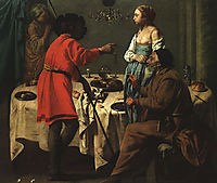 Jacob Reproaching Laban, 1627, terbrugghen
