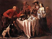 Jacob Reproaching Laban, 1628, terbrugghen