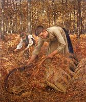 Gathering Bracken, 1899, thangue