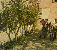 Gathering Oranges, 1929, thangue
