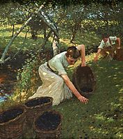 Gathering Plums, 1901, thangue