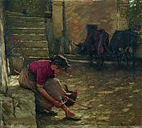 Going out with the Cows, 1924, thangue