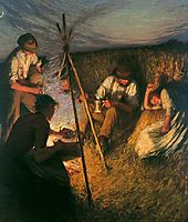The Harvesters- Supper, 1903, thangue