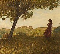 A Ligurian Shepherdess, thangue