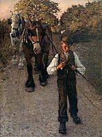 The Plough Boy, 1900, thangue