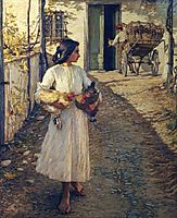 Selling Chickens in Liguria, 1906, thangue