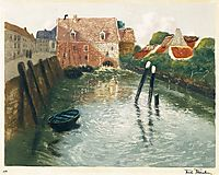 Channel with Watermill, thaulow