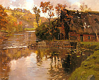 Cottage by a Stream, thaulow