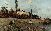 Evening at the Bay of Frogner, thaulow