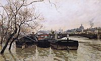 Flooding by the Seine, thaulow