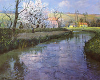 A French River Landscape, thaulow