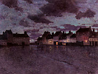 Marketplace in France, after a Rainstorm, 1894, thaulow