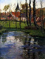 The Old Church by the River, thaulow