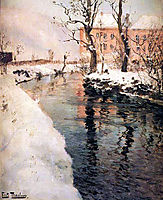A River in the Winter, thaulow