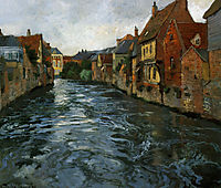 Riverside, View of Abbeville, 1894, thaulow