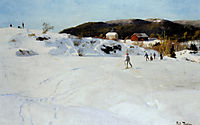 Skiers, c.1886, thaulow