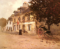 A Village Street in France, thaulow