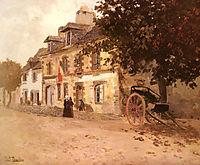 A Village Street in France, thaulow
