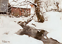 Winter on the Isle of Stord, 1890, thaulow