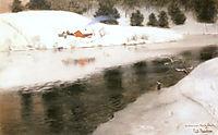Winter at Simoa River, thaulow