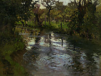 Woodland Scene with a River, thaulow