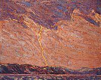 Lightning, Canoe Lake, 1915, thomson