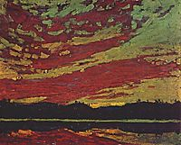 Sunset, 1915, thomson