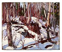 Winter Thaw in the Woods, 1917, thomson