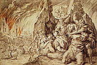 The Greeks Leave after Fire of Troy, thulden