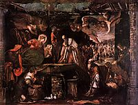 The Adoration of the Magi, 1582, tintoretto