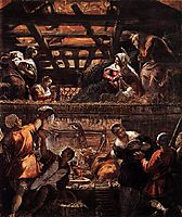 The Adoration of the Shepherds, 1581, tintoretto