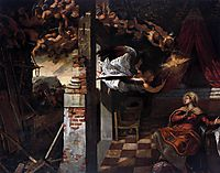 The Annunciation, 1587, tintoretto