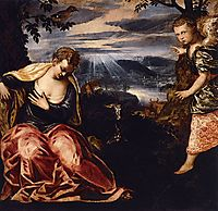 The Annunciation to Manoah-s Wife, 1558, tintoretto
