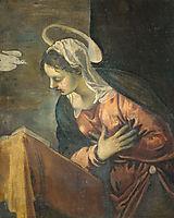 Annunciation, Maria, 1594, tintoretto