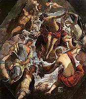 Apollo (possibly Hymen) crowning a Poet and giving him a Spouse, tintoretto