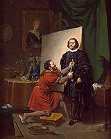 Aretino in the Studio of Tintoretto, tintoretto