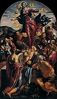 Assumption of the Virgin, 1550, tintoretto