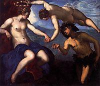 Bacchus, Venus and Ariadne, 1576-77, tintoretto
