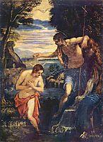 Baptism of Christ, tintoretto
