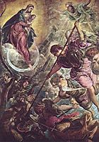 Battle of the Archangel Michael and the Satan, tintoretto