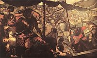 Battle between Turks and Christians, 1588-89, tintoretto
