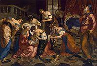 The birth of John the Baptist, 1554, tintoretto