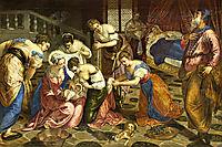 The Birth of John the Baptist, c.1554, tintoretto