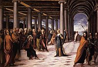 Christ and the adulteress, tintoretto