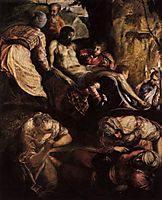 Christ carried to the grave, 1560, tintoretto