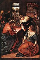 Christ in the House of Martha and Mary, 1570-75, tintoretto