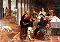 Christ in the house of the Pharisee, tintoretto