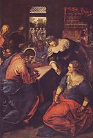 Christ with Mary and Martha, tintoretto